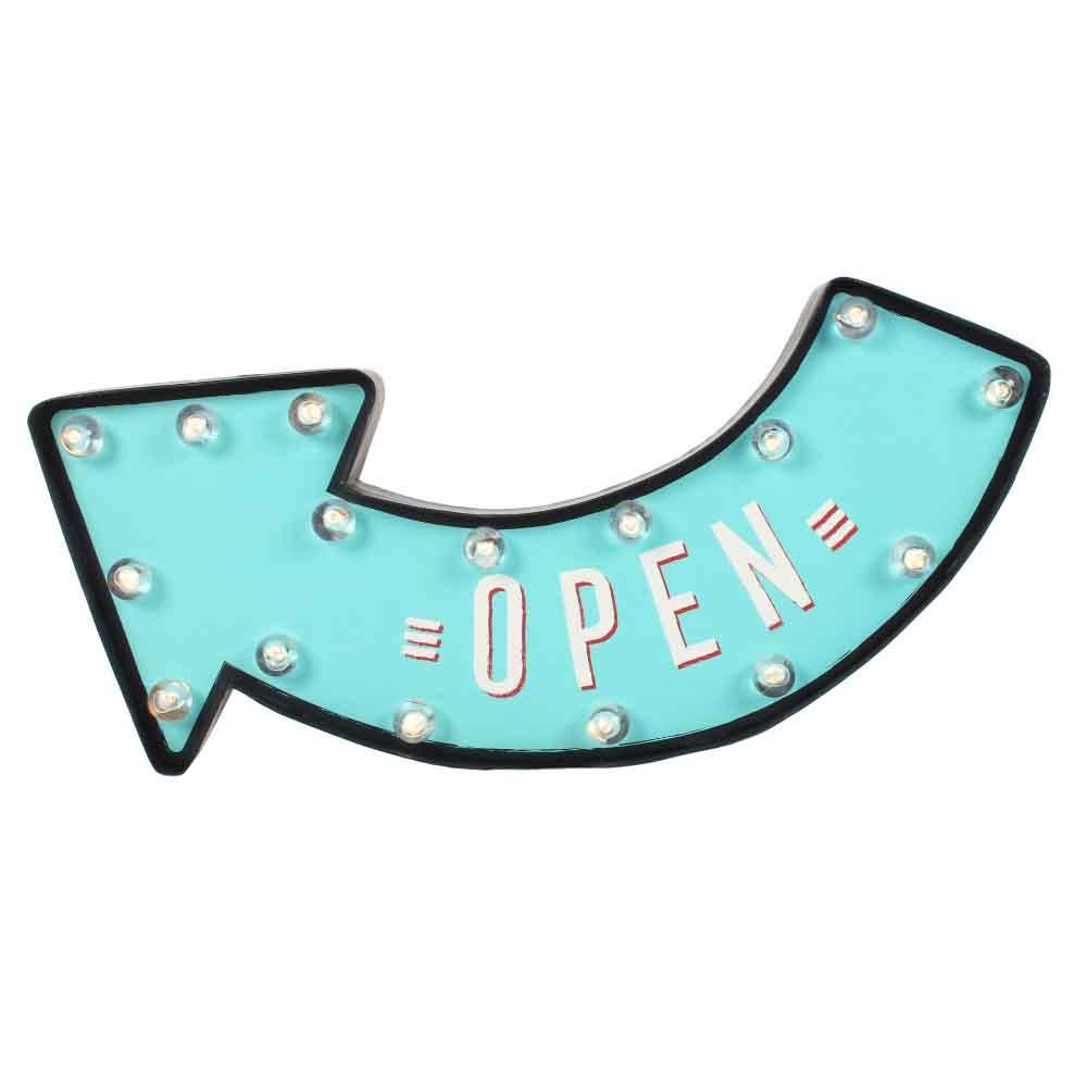 Open Light Up Sign