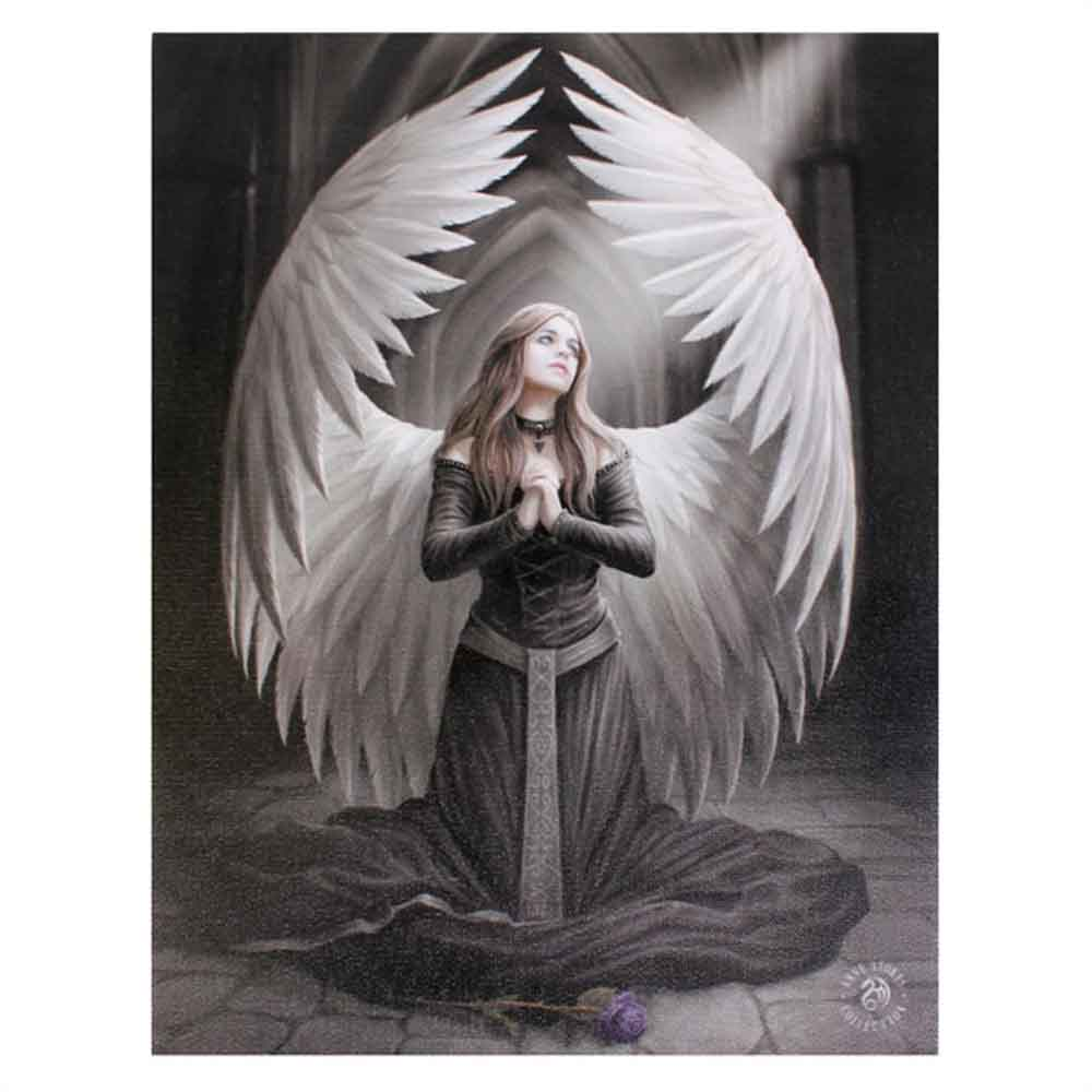 19x25cm Prayer For The Fallen Canvas Plaque by Anne Stokes