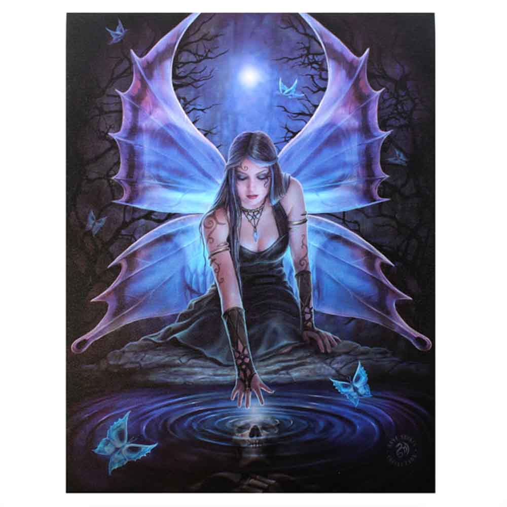 19x25cm Immortal Flight Canvas Plaque by Anne Stokes