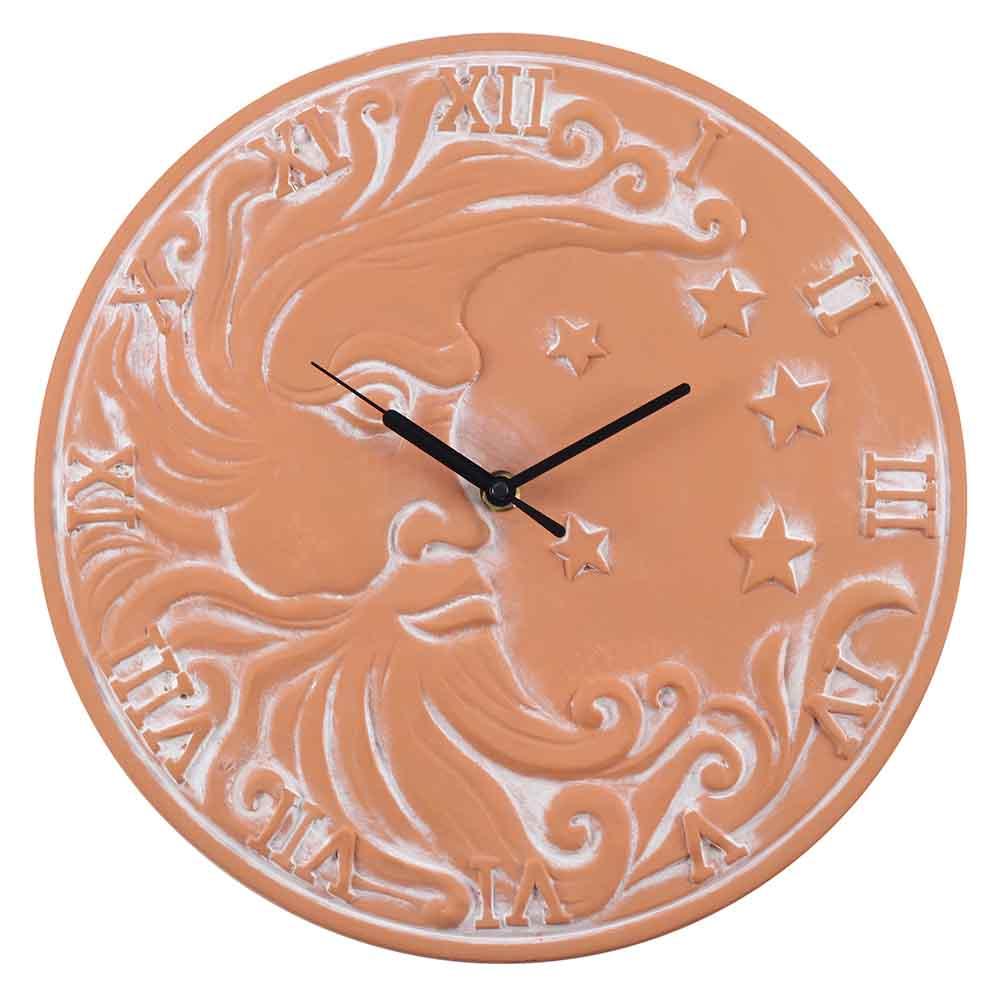 Terracotta Moon Clock